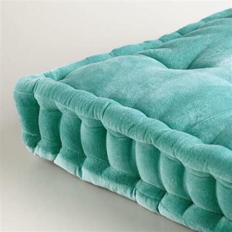 world market floor pillows aqua velvet floor cushion world market