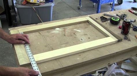 making a medicine cabinet how to build a recessed cabinet pt 1 youtube