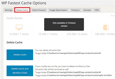 Wp Fastest Cache Settings