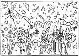 Spring Parade Mermaids sketch template
