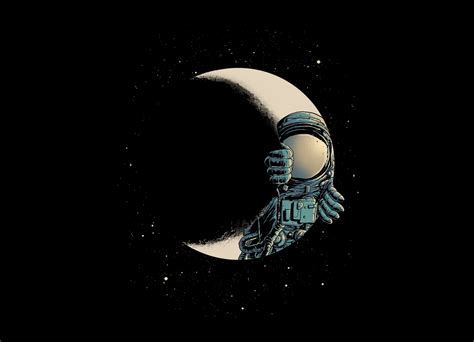 Crescent moon by CARBINE | Threadless