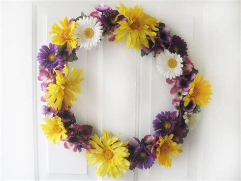 diy spring wreath with flowers make something mondays