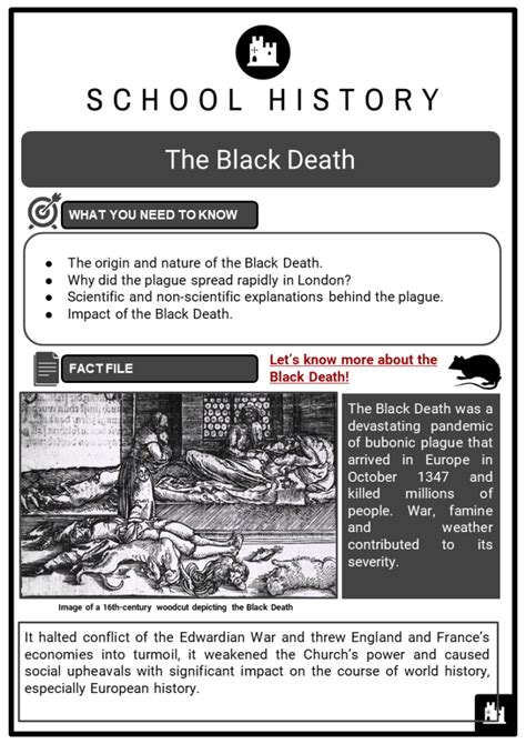 black death facts worksheets origin nature  kids