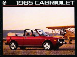 1985 Vw Volkswagen Rabbit Cabriolet Convertible Original