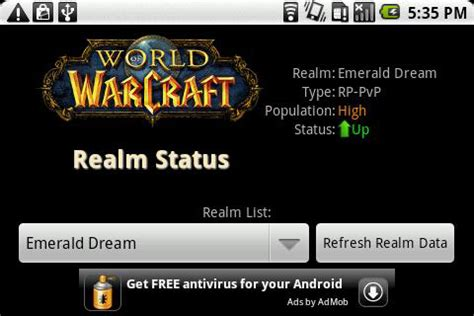 world  warcraft android apps   ready