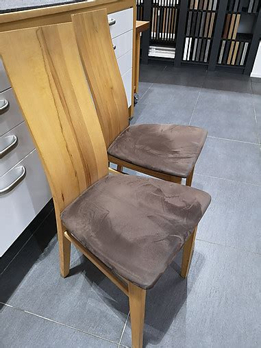 stuehle stuhl sitzbezug microfaser braun gestell und