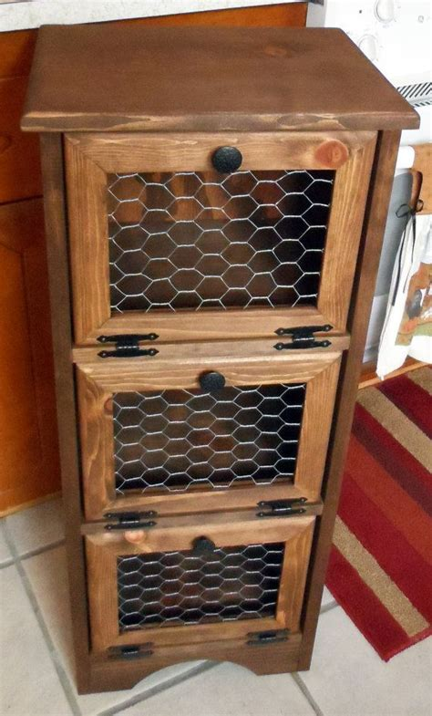 potato storage bin chicken wire flat top