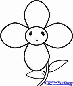How to Draw a Flower for Kids, Step by Step, Flowers For ...