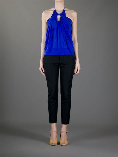 lyst see by chlo 233 halter neck top in blue