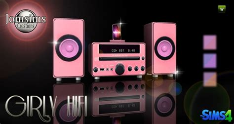 girly hifi stereo  jomsims creations sims  updates