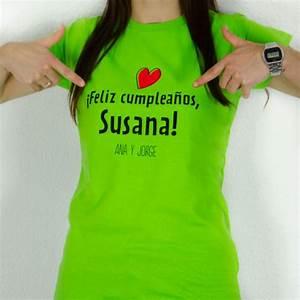 Camiseta feliz cumpleaños mujer