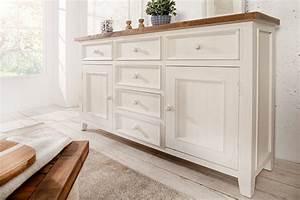 Sideboard 160 Cm Weiss : hochwertiges sideboard byron 160 cm pinienholz wei vintage braun riess ~ Bigdaddyawards.com Haus und Dekorationen