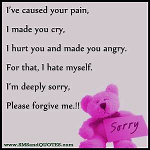Sorry For Hurting You Quotes. QuotesGram