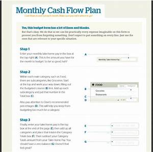 dave ramsey budget worksheet recommended percentages the With cash flow template for business plan