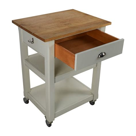 rolling kitchen cart  cutting board tables