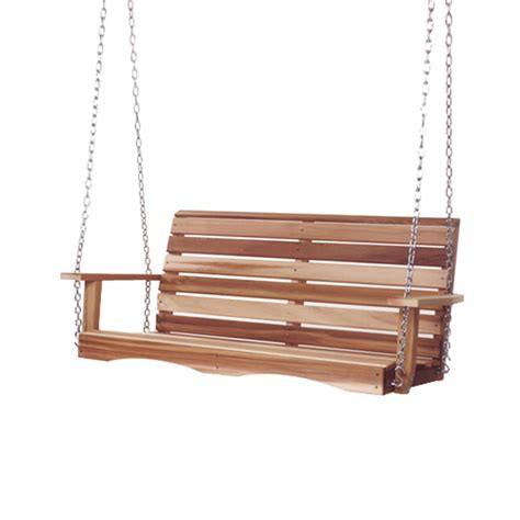 home ceiling fans sale shop all things cedar natural porch swing at lowes com