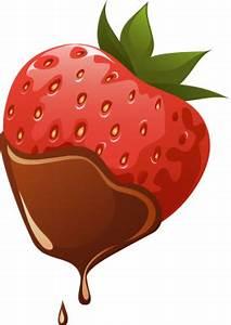 Molten Chocolate on Strawberry - Free Clip Arts Online ...