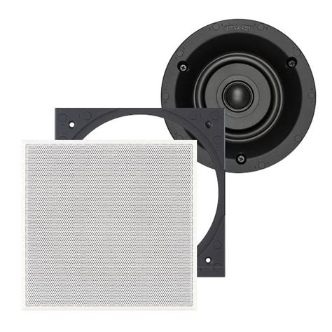 Sonance In Ceiling Outdoor Speakers by Sonance Visual Performance Vp42s 4 Quot Square Speaker Pair