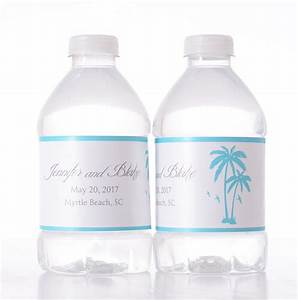 beach themed wedding custom water bottle labels labelsrus With beach themed water bottle labels
