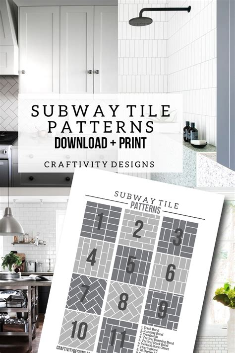 subway tile ideas  tile pattern template page