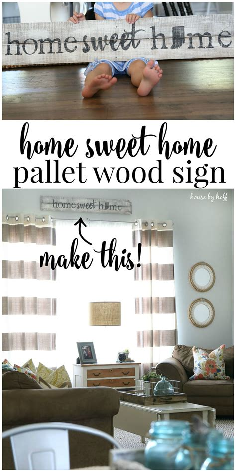 pallet wood sign home sweet home house  hoff