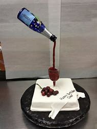 Birthday Cake With Wine Glass