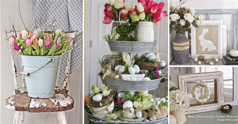 Easter Home Decor Styling: 20 Rustic Easter Decorations Bringing A Farmhouse Appeal