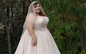 pink plus size wedding dress pluslookeu collection With pink plus size wedding dresses