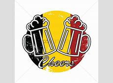 Beer mugs cheers on belgium flag Vector Image 1579375