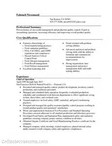 mechanical inspector resume sle quality supervisor resume sales quality lewesmr