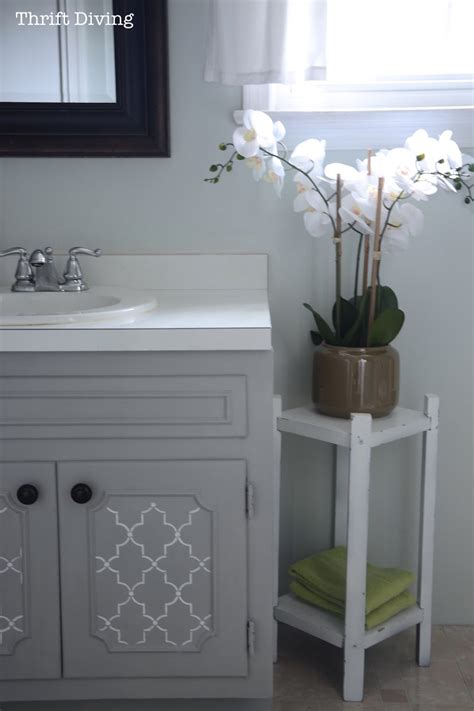 painting kitchen cabinets light gray how to paint a bathroom vanity diy makeover thrift