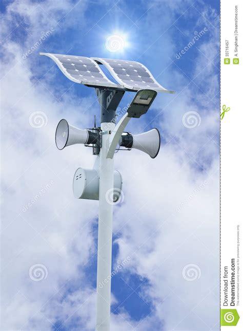 l speaker solar cell tower royalty free stock