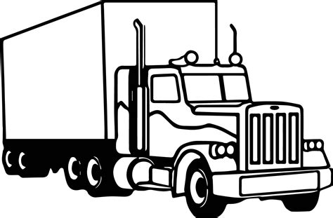 truck coloring pages semi truck coloring page wecoloringpage