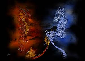 FIRE vs ICE.jpg | Ice dragon, Fire dragon and Dragons