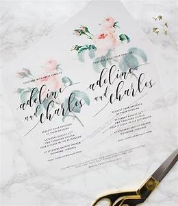 make your own beautiful floral wedding invitations with With wedding invitations on vellum paper