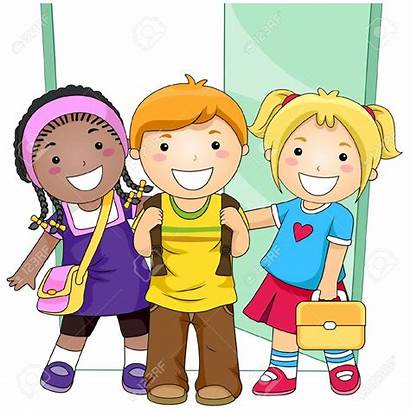 Classroom Clipart Students Children Clip Teaching Outside