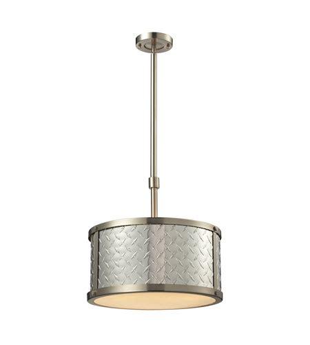pendant light ceiling plate elk 31424 3 plate 3 light 16 inch brushed nickel