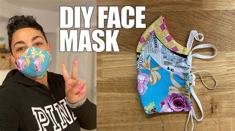 diy fabric face mask blogtubez