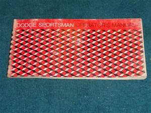 1975 Dodge Sportsman Van Owner U0026 39 S Manual    Original Guide