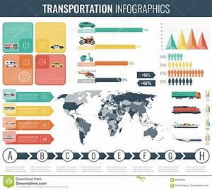 Ensemble D U0026 39 Infographics De Transport Transport En Commun