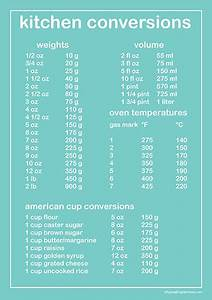 Measurement Conversion Chart A Typical English Home Kitchen Conversion Chart Printable