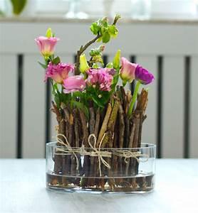 Blumendeko Im Glas : diy fr hlingshafte blumendeko schnell g nstig deko kitchen ~ Frokenaadalensverden.com Haus und Dekorationen