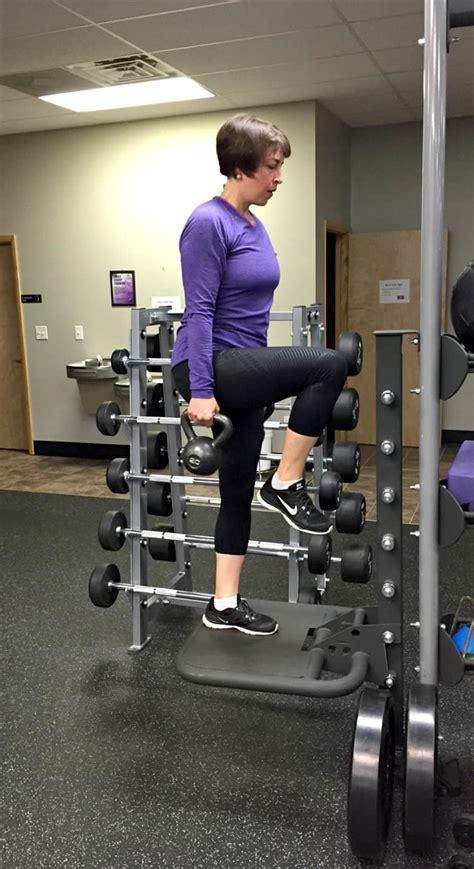 step ups kettlebell workout reps knee per sandbag side