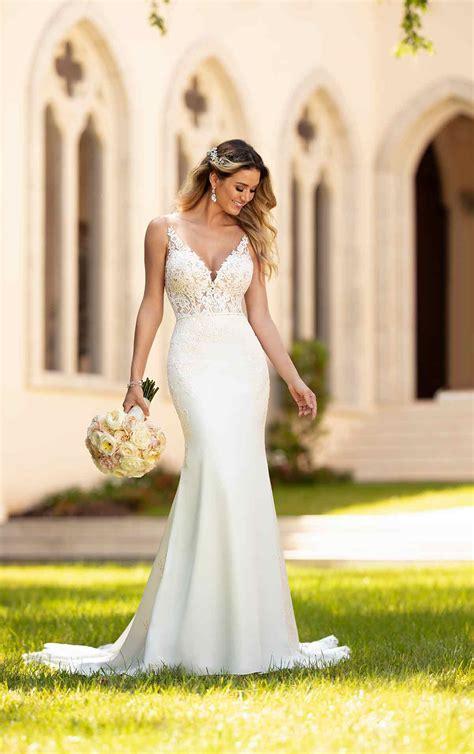 simple  sleek wedding gown stella york wedding gowns