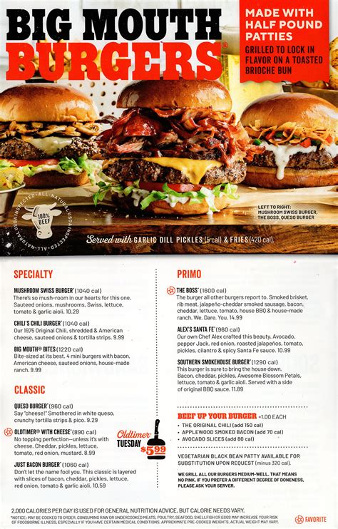 chilis grill bar menu order  delivery