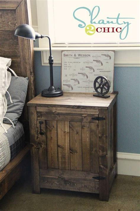 rustic nightstand ideas  pinterest diy