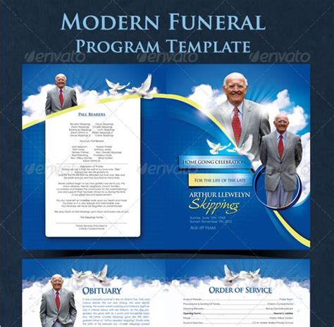 funeral program templates category church flyers