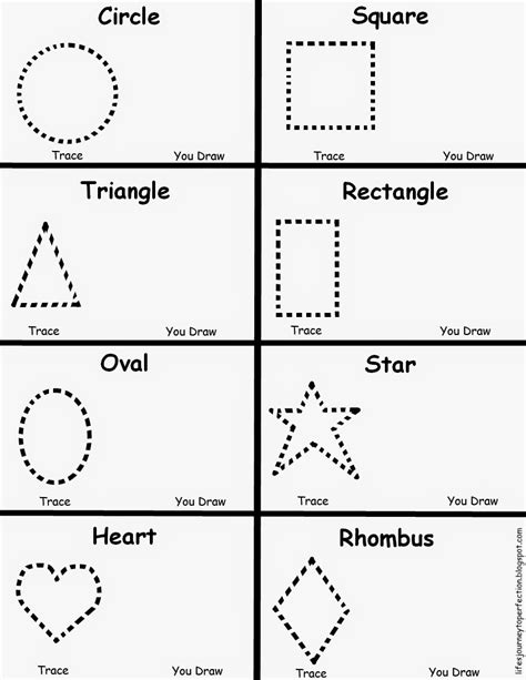 s journey to perfection preschool shapes worksheet