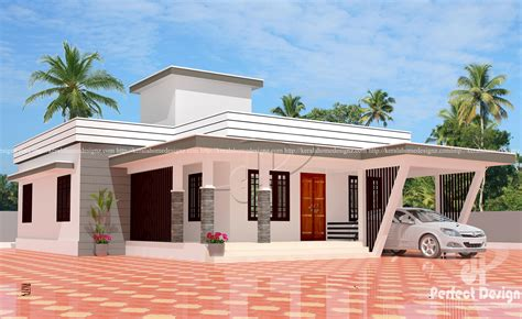 3 bedroom modern flat roof house layout – Kerala Home Design