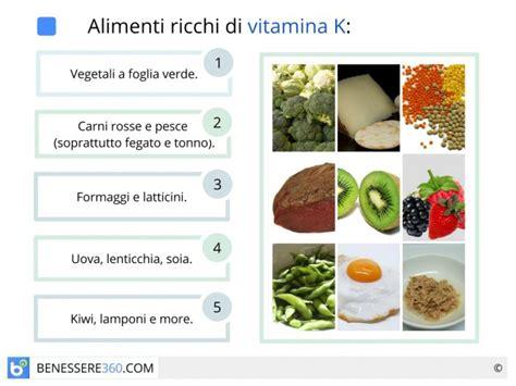 alimenti ricchi di vit b12 carenza di vitamina k